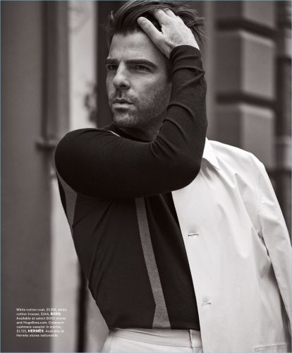 Zachary Quinto Covers Essential Homme, Talks 'The Boys in the Band'