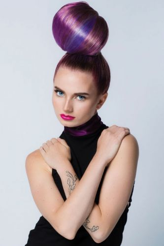 Anna Cantu's Majestic Melding of Mauve-To-Violet Project