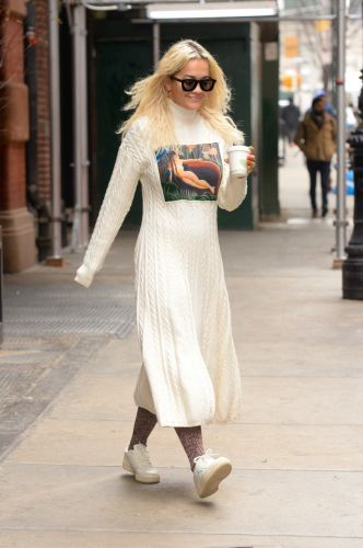 Rita Ora's Sweater Dress Has a Naked Woman on It, and I Kind of Love It
