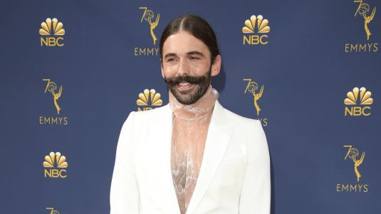 Great Outfits in Fashion History: Jonathan Van Ness in a White Stella McCartney Suit