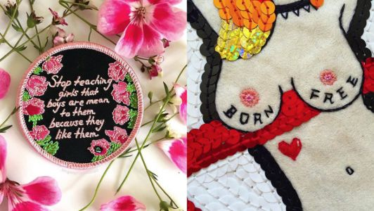 The artist calling out sexism and breaking boundaries through intricate embroidery