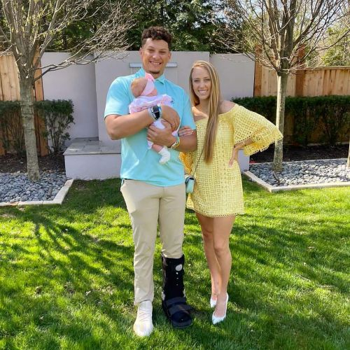 Patrick Mahomes and Brittany Matthews Debut Daughter Sterling's Face 4 Months After Her Birth