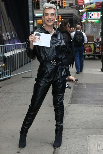 Sister Stylish! James Charles Wears a Sexy Leather Jumpsuit While Doing Press in NYC