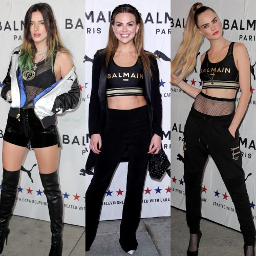Your Favorite Stars Stunned at the PUMA x Balmain Launch Event- Bella Thorne, Hannah Brown and More!