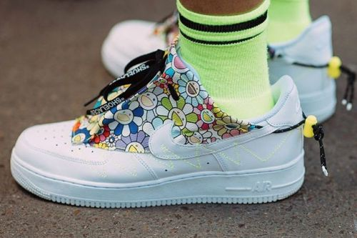 Takashi Murakami Flaunts Nike Air Force 1 Custom by Studio Hagel