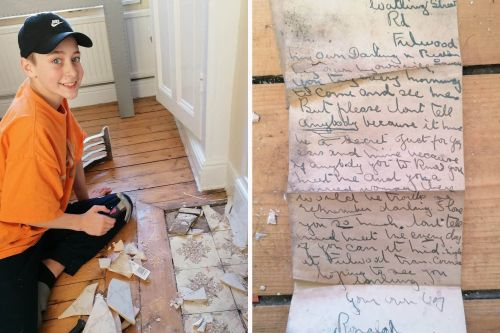 Teen finds 100-year-old love letter about sexy 'secret' affair