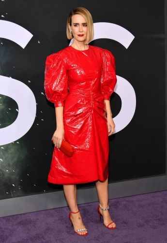 Sarah Paulson Wore a Puffy-Sleeve Red Dress, and Now I Want One, Too
