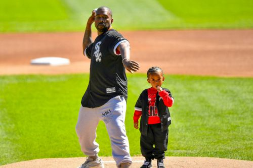 Watch Kanye West & Saint Throw the First Pitch at Chicago White Sox Game