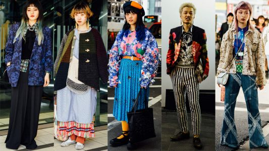 Clashing Prints Were a Street Style Hit at Tokyo Fashion Week