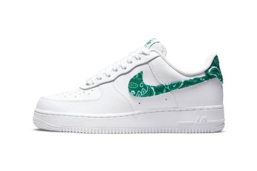 """The Nike Air Force 1 Low Also Receives a """"Green Paisley"""" Colorway"""