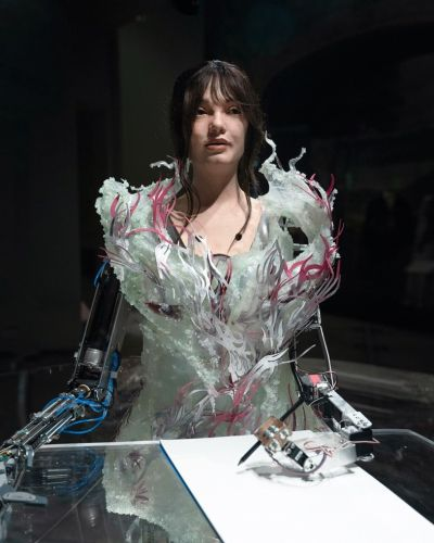 The humanoid AI artist Ai-Da has been detained on suspicion of being a spy