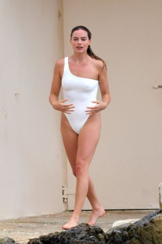 Margot Robbie Brings All the Heat to Cannes in a Revealing, White Swimsuit - See Pics!