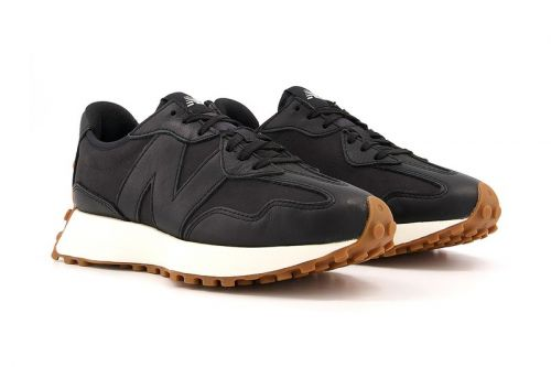 New Balance 327 Merges Matte Black Uppers With Gum Bottoms