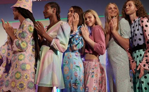 Olivia Rubin brings colour to LFW