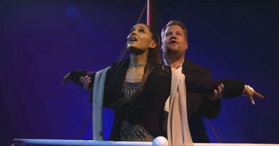 Ariana Grande and James Corden Recreated the 'Titanic' and We're Not Crying, You Are