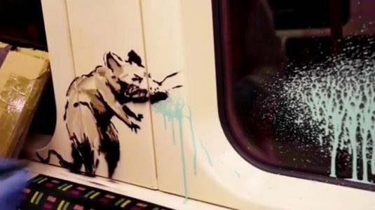 Banksy hits the London Underground to paint new coronavirus-themed artworks