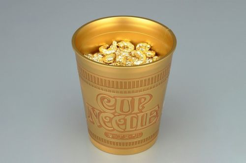 Bandai SPIRITS Celebrates 50 Years of Cup Noodle With Golden Model