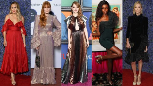 This Week's Best Dressed Celebrities Were All About Ruffles and Pleats