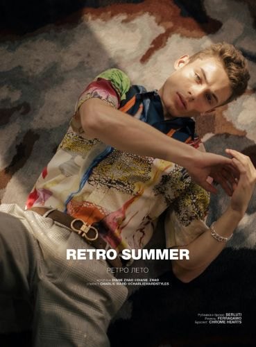 João Knorr Stars in a 'Retro Summer' for Numéro Russia