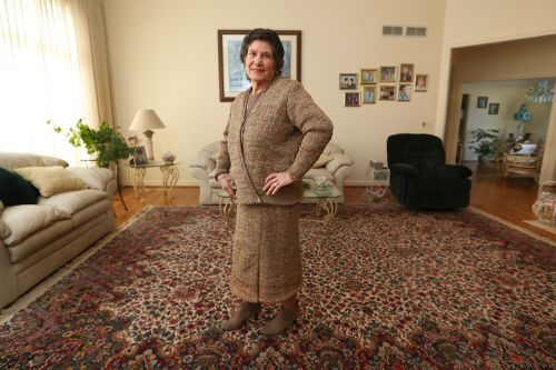 Stylish lady makes her clothes out of Wegmans plastic bags