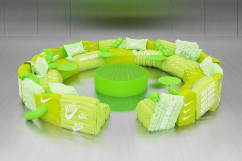 Try Out Harry Nuriev's Neon Green Air Max Sofa for Yourself