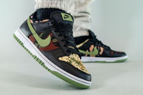 """On-Foot Look at the Nike Dunk Low """"Crazy Camo"""""""