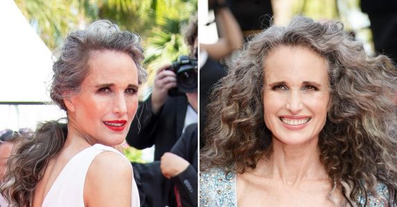 Gone Gray! Andie MacDowell Makes 'Powerful' Statement With Salt & Pepper Hair, Matching Gowns at 74th Cannes Film Festival - Get The Look