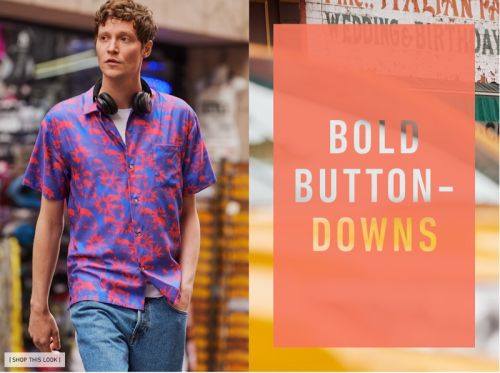 Matthew Hitt Goes Graphic with East Dane in Casual Shirts