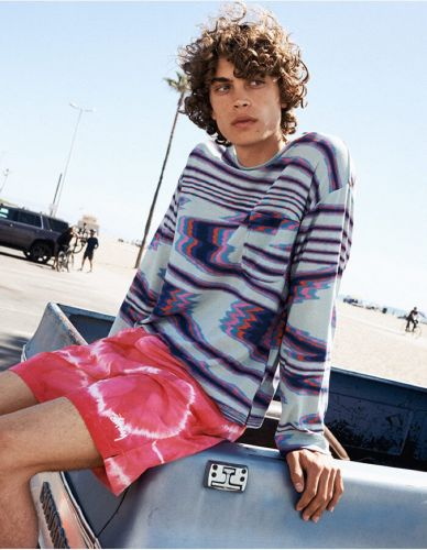 Lucas Bin Embraces Graphic Fashions for YOOX