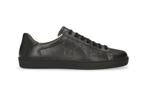"""Gucci's New Ace Sneakers Receive """"Triple Black"""" Colorway"""