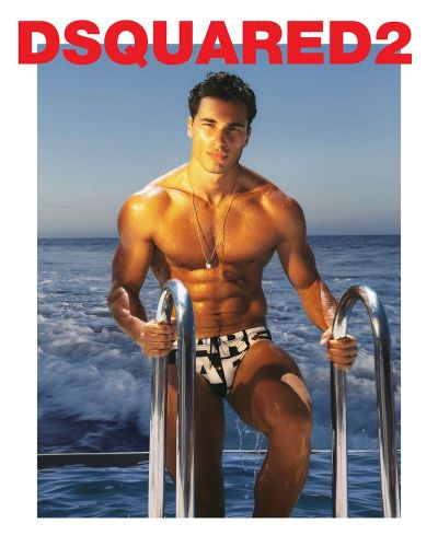 Dean Perona & Christos Katsavochristos Flex for Dsquared2 Beachwear Campaign