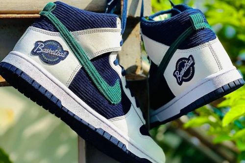 """Corduroy and Leather Collide on the Nike Dunk High """"Official Nike Basketball"""""""